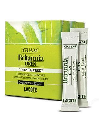Drenujący koncentrat GUAM z alg morskich i ekstraktów roślinnych do picia o smaku zielonej herbaty - op. 30x12 ml - Płock